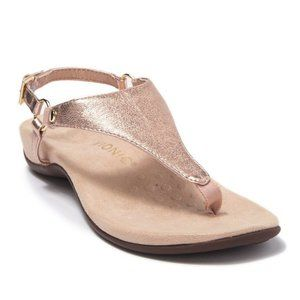 New Vionic Kirra Metallic Rose Gold Sandals